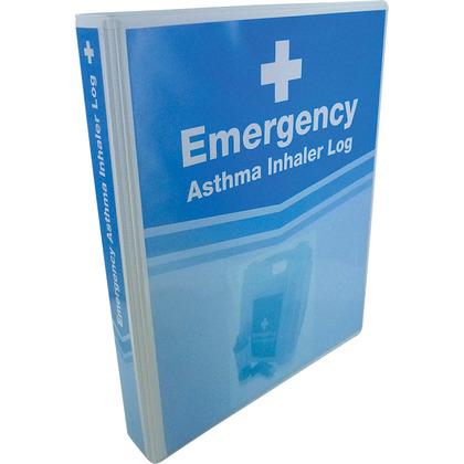 Emergency Asthma Inhaler Log Folder