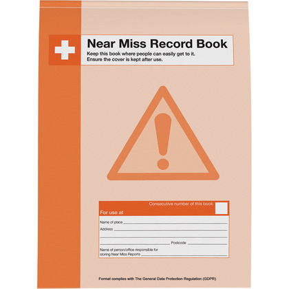 GDPR Compliant Workplace Near Miss Record Book, A4