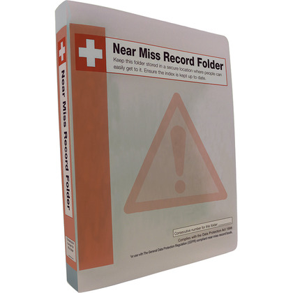 Near Miss Record Book Folder