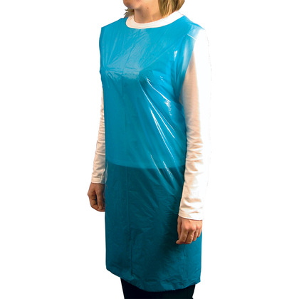 Blue Polythene Aprons on a Roll (200)