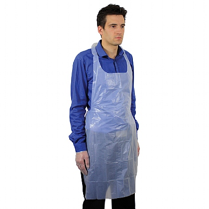 Blue Polythene Aprons (Pack of 100)