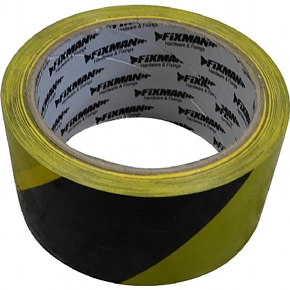 PVC Floor Tape, Black and Yellow