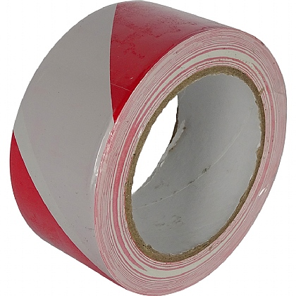PVC Floor Tape, Red and White