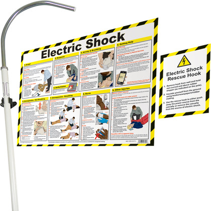Electric Shock Rescue Hook with FREE Poster