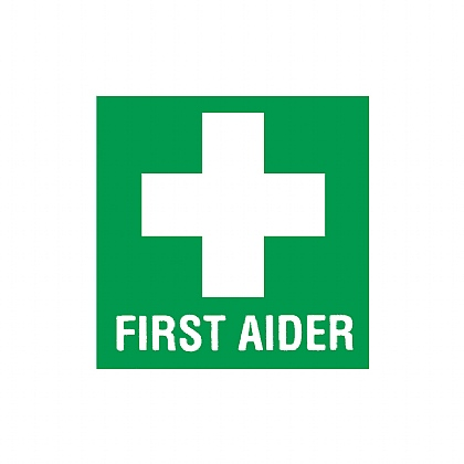 First Aider Helmet Sticker, 5 x 5cm, Pack of 10