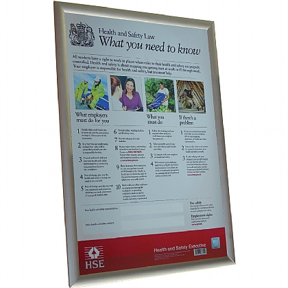 Health & Safety Law Poster with Frame, A2