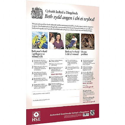 Health & Safety Law Poster, Welsh, A2 Poster