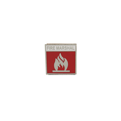 Fire Marshal Badge, 2.5x2.5cm