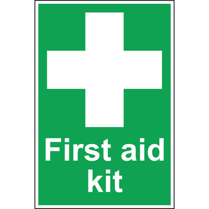 First Aid Kit Sign - 200x300mm (Vinyl)