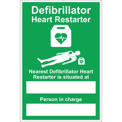 Nearest AED Sign