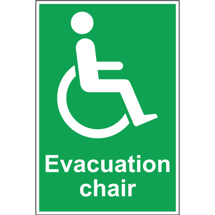 Evacuation Chair Sign