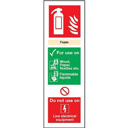 Fire Extinguisher AFF Foam Sign