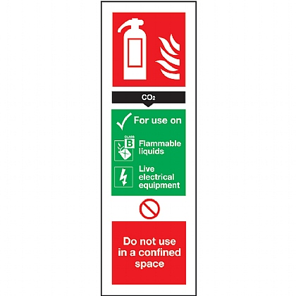 Fire Extinguisher Co2 Sign