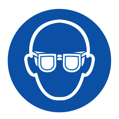 PPE Label - Eye Protection, Vinyl, 10cm dia.