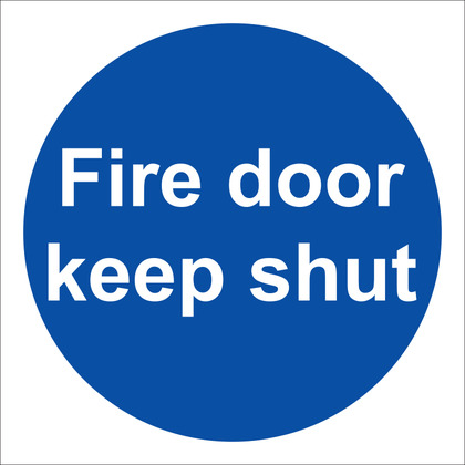 Fire Door Keep Shut Sign, 10x10cm