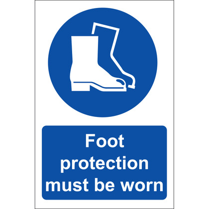 Foot Protection Must Be Worn Sign, Rigid, 20x30cm