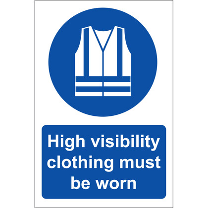 HI VIS Clothing Must Be Worn Sign, Rigid, 20x30cm