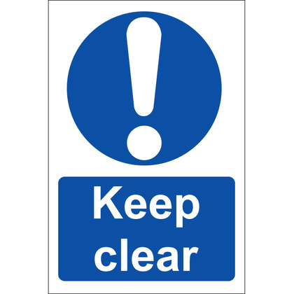 Keep Clear! Sign, Rigid, 20x30cm