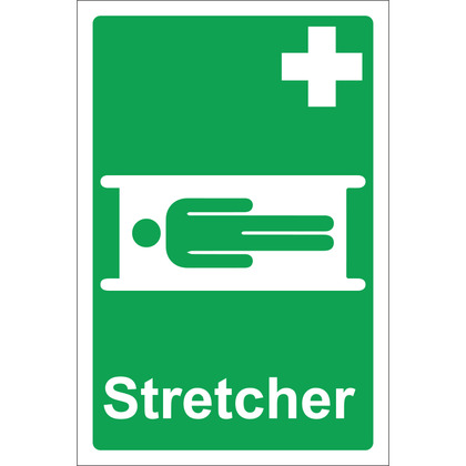 Stretcher Sign, Rigid, 20x30cm