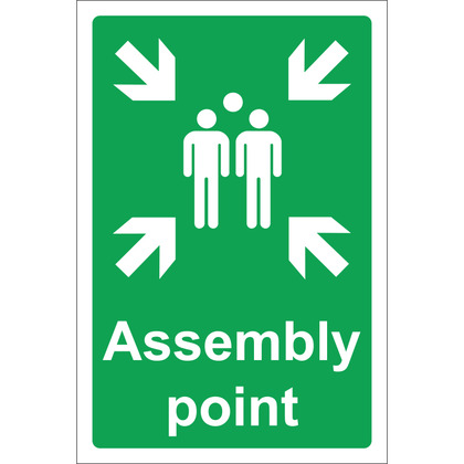 Assembly Point Sign, Rigid, 20x30cm
