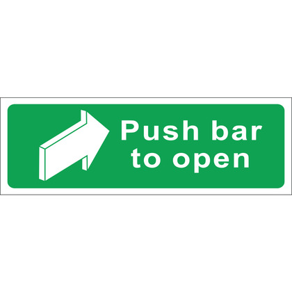 Push Bar to Open Sign, Vinyl, 45x15cm