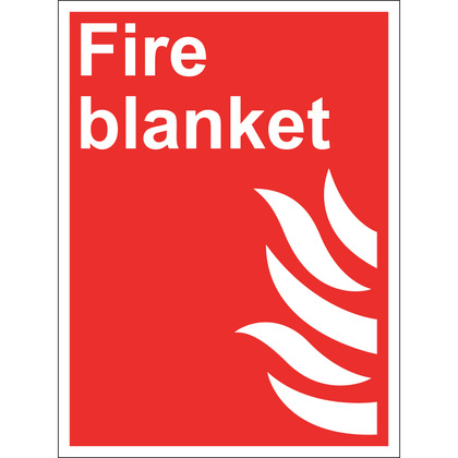 Fire Blanket Sign, Rigid, 15x20cm