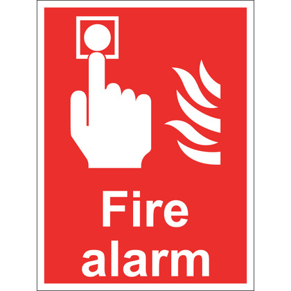 Fire Alarm Sign, Rigid, 15x20cm