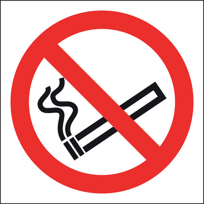 No Smoking Sign, Vinyl, 10x10cm