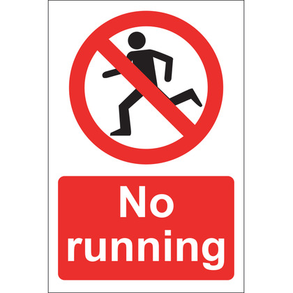 No Running Sign, Rigid 20x30cm