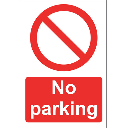 No Parking Sign, Rigid 20x30cm