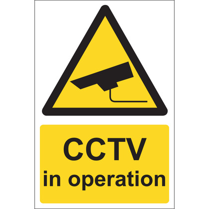CCTV In Operation Sign, Vinyl, 15x20cm