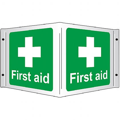 First Aid 3D Projecting Sign, 43x20cm