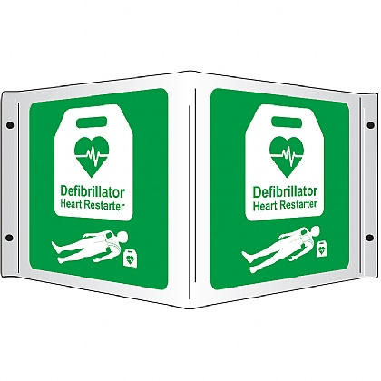 AED 3D Projecting Sign, 43x20cm