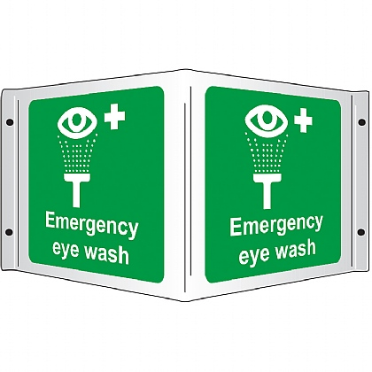 Eyewash 3D Projecting Sign, 35x20cm
