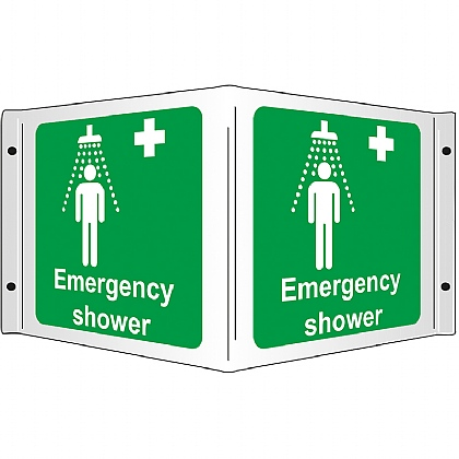 Emergency shower Rigid 3D Projecting Sign 43x20cm