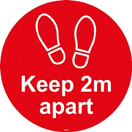 Keep 2mtr Apart (Floor Graphic) 200mm diameter