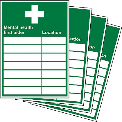 Mental Health First Aider Location Updateable Sign A5