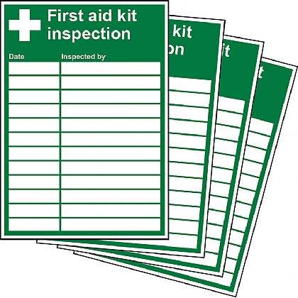 First Aid Kit Inspection Updateable Sign A5